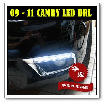 Free shipping(2/P),2009 2010 2011 TOYOTA camry daytime running lights,DRL,LED front lamps,auto car products,accessory,parts(China (Mainland))