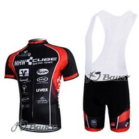 2012 NEW black CUBE Cycling clothes /Cycling Jersey ,Short-sleeved Bib Shorts Free shipping!