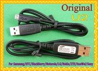 Wholesale 50PCS/lot Original U2 5 Pin Micro USB Cable For Samsung/HTC/BlackBerry/Motorola/LG/Nokia/ZTE/HuaWei/Sony