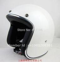 Free shipping/Motorcycle helmet/ Fiberglass material retro helmet/ jet helmet/Top level open face helmet/white