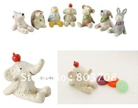 Wholesale Cute Resin Animal Action Figure Dolls Toy,5cm resin ROOGO animals figure/doll,resin dog doll,free shipping