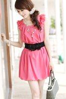 NEW excellent quality, wholesale 12PCS./lot  rose elegant elastic ladies wide belt