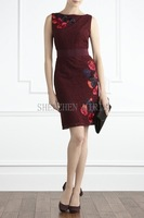 women  dress Summer thin elegant lace exquisite embroidery slim sleeveless one-piece dress