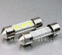 Free shipping Factory wholesale 39mm 3SMD 5050 LED Car Auto Light Bulbs LED License Plate Light LED Festoon Light