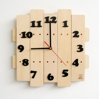 Free Shipping ! Low price+High Quality  Pastoral style Manual Wooden wall clock/ Mute clocks