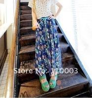 Bohemian style chiffon skirt beach skirt dress  A519
