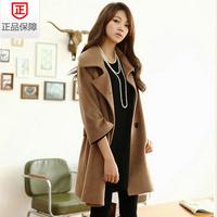 spring outerwear autumn and winter medium-long wool coat outerwear plus size Wool Blends Coat women