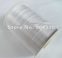 """Free Shipping! 870yards 1/8""""(3mm) White Polyester Satin Ribbon Single Face Scrapbooking DIY Craft Garment Accessories"""