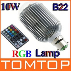 Colorful RGB LED Lamp 10W B22 LED Bulb Lamp Light Spot light with Remote Control Free shipping(China (Mainland))