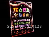 New bundle 60*80CM led fluorescent handwriting board/advertisement board with 10mm highlighter&Bracket