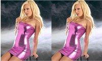 Women plus size pink sexy secretary loaded latex catsuits zentai catsuit costumes uniform Sexy lingerie costumes fancy dress