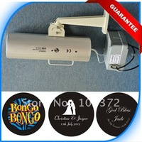 Fast Free Shipping 150W Outdoor IP65 Standing Image Gobo Logo Projector with 2 Colors Cusom Lighting Gobo Patterns