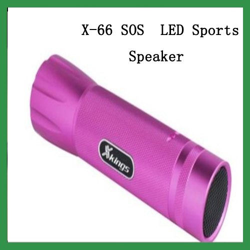 Free Shipping New X-66 SOS LED speaker mini speaker LED lighting system computer speaker for laptop blue(China (Mainland))