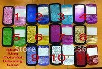 Free Shipping OEM Black Ring Half Housing Case for Blackberry Bold 9900 Lens+Back Cover+Keypad for BB9900 Colorful Cases