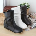 US 4-11  BIG SIZE BOOTS Free shipping New arrived black Tassel zipper snow boots Motorcycle flat pu Fashion shoes HX-A-2