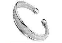 Free Shipping promotion. 10pcs/lot Silver Plated Bracelets,Hypotenuse Bracelet, High Quality Fashion Bangles HSSB019