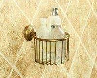 Solid Brass  Lock Storage Basket  Antique  Wire Shelf Toilet Bath Rack Toilet Paper Holder