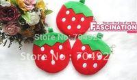 6PCS Strawberry Plush Coin Purse & Wallet BAG Pouch Case Holder , Pendant Storage Case BAG Pouch ; Beauty Case Handbag BAG