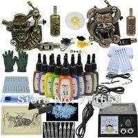 Go pro Tattoo Starter Kit tz-110101 professional glitter tattoo kit ( Tattoo Machine LED Machine Light Mini Foot Pedal Supply )