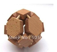 Free shipping of Eight noodles ball eight corner Wood Construction Puzzle Wooden Brain Teaser