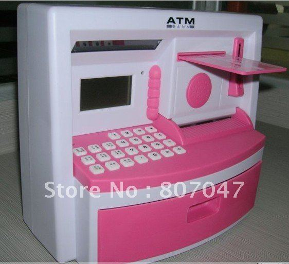 Freeshipping 10pcs / lot Bank toys - Mini ATM teller deposit / ATM Machine(China (Mainland))
