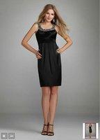 2012Short Stretch Satin Dress with Beaded Neckline Style 8218Z413