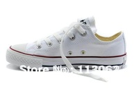 free shipping new women&#39;s canvas shoes sneaker Casual shoes low style white shoe 1pcs/lot