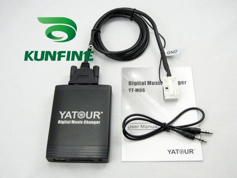Cheap Shipping! Car digital music transmitter with USB/SD/MMC/SDHC Slot-KF-M06-VW12pin+1year warranty(China (Mainland))