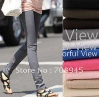 Best Selling!!thin cotton Flexible Leggings pencil pants Many Colors Free Shipping 1Piece