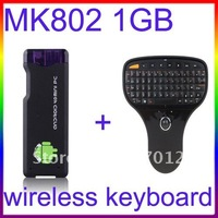 Fast Shipping MK802 Android4.0 IPTV Mini Android 4.0 PC android box 1G RAM + 2.4G Lenovo N5901 Wireless Keyboard Mouse