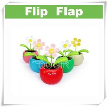 Flip Flap Solar Powered Flower Flowerpot Swing Dancing Toy D8011