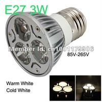 3W Led Lighting Bulbs E27 85-265V 240LM Warm White - Free Shipping