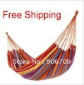 Free shipping Creative life single thickening canvas colorful outdoor hammock Indoor leisure hammock