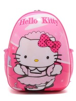 Free shipping by EMS,outdtravel backpack, hello kitty school bag ABS material, hard shell,12nches,,cartoon Screen,OEM accept.