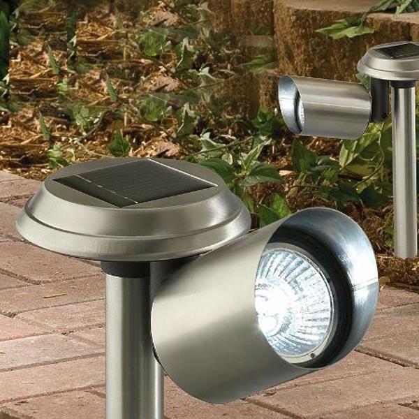 4pcs Lot Outdoor Solar Spot Light White stainless steel