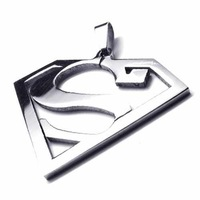 Free Shipping Fashion Jewelry Superman Logo-Shaped S Pendant 316L Stainless Steel Necklaces Mens Necklaces 18659