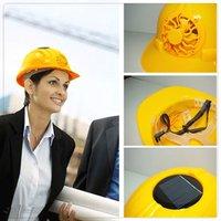 Solar fan helmet Motorcycle helmet fan cap Construction workers helmets