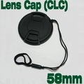 Free shipping New Arrival lens hood cap DEC1099  for all camera cap lens Emora 58mm general lens cap Center Release  with Keeper