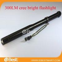 Free shipping 2014 hot sale baseball bat shape 300 Lumen CREE F1 LED Flashlight LED Torch 3000mAh Battery Flashlight