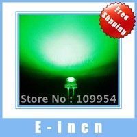 100 PCS Green LED Strawhat Light Emitting Diode 4.8mm Straw hat LED Lighting.free shipping