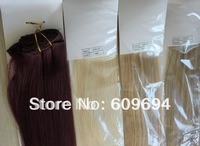 """18"""" 20"""" 22"""" 60# 120g/set Indian Remy Human Hair Clip in Hair Extensions platinum blond CP12"""