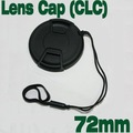 New Arrival 72mm Emora general lens cap Center Release with Keeper DEC1102 for all camera cap lens hood cap Free shipping