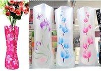 Free shipping  fashion foldable pvc  plastic vase , home decoration [small&large , radom style]