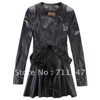 women's 2012 100% genuine leather wind coat