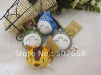 Totoro Plush Doll Toys Keychain Stuffed Plush Keychain Mobile Phone Keychain