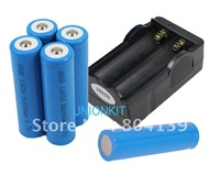New Li-ion 5000mah 18650 Five Rechargeable Batteries and one Charger For portable LED Flashlights
