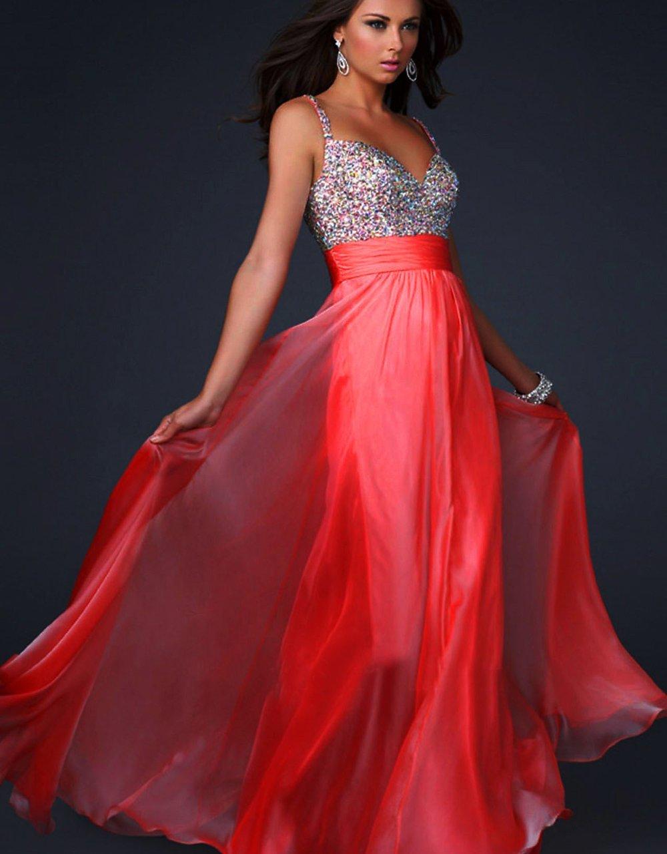 Red Sweetheart Neckline Dress