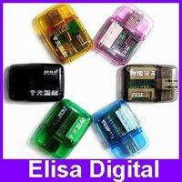 Free Shipping SD/MMC Card Reader Micro-SD Card Reader Mini USB Card Reader,RY016
