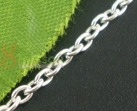 Цепь 20 M Silver Tone Link Chains Findings 2mm*5mm
