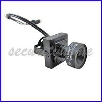 MINI Sharp CCD Color Home Surveillance Board Box Camera 16mm MTV Lens